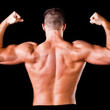 فیگور عضلات سر شانه از پشت