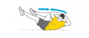 حرکت دوچرخه برای تقویت عضلات شکم